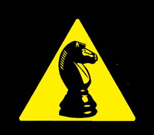 White Knight warning triangle